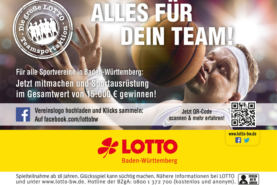 Teamsport Aktion der Lotto BW